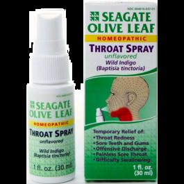 Seagate Olive Leaf Throat Spray Unflavored - 1 fl oz